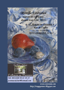 The poster of my painting exhibition at La Roque Alric in 2013