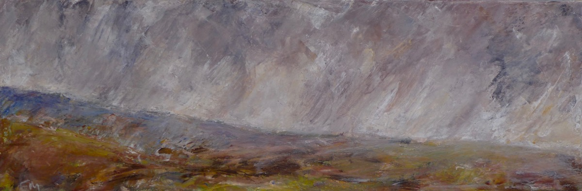 Scotland landscape with clouds on Lewis and harris island, Hebridies