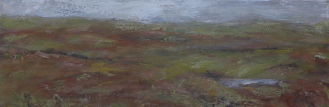 Autumn landscape in Scotland, on Harris and Lewis island