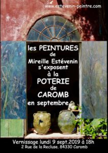 exposition en septembre 2019 à Caromb